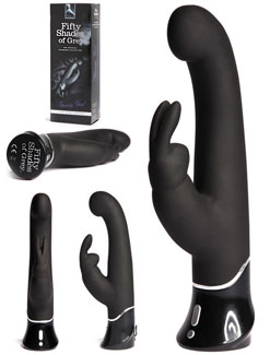 Official Fifty Shades Sex Toy: Greedy Girl  Rabbit Vibrator