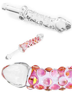 Rocky Road Baton Pyrex Glass Dildo by Phallix
