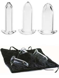 Crystal Delights Borosilicate Glass Dilator Set